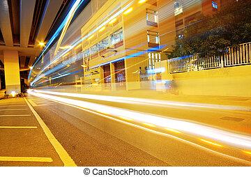 forgalom, alatt, város