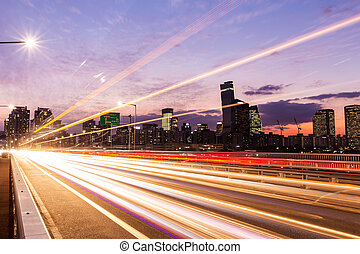 Forgalom, Város, elfoglalt,  modern