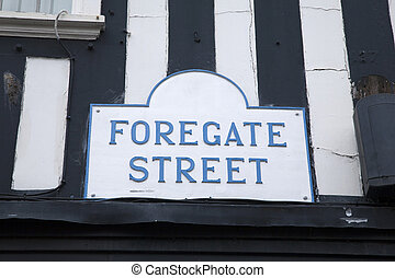 Forgate Street Sign, Chester