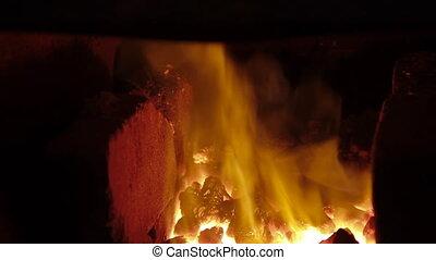 forge furnace pan close up