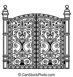 Forged iron gate