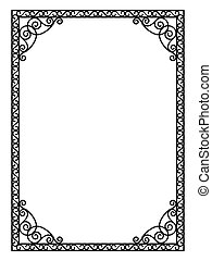 forged openwork metal abstract black frame
