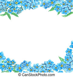 Forget me not borders - Borders made of forget me not...