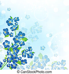 forget-me-not flower background - illustration of the...