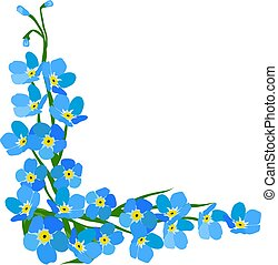 vector forget me not