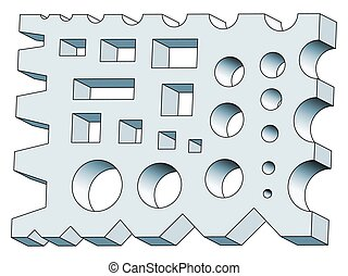 Forging shape tool - Illustration of the forging shape tool...