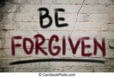 forgiven, être, concept