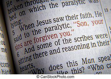 forgiven, vous, fils, péchés, ton