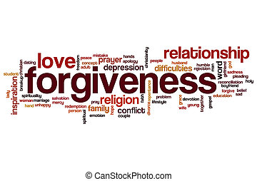 Forgiveness word cloud