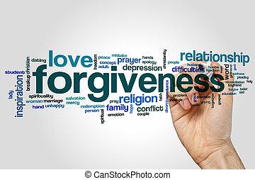 Forgiveness word cloud concept