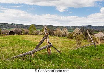 Forgotten abandoned farm