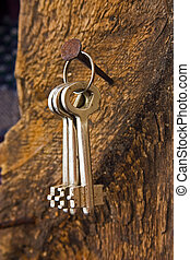 forgotten keys on an old nail