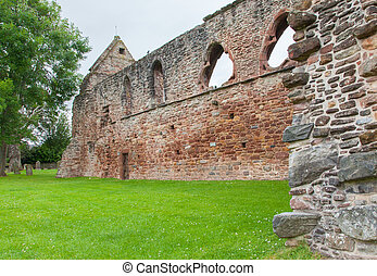 Forgotten old Scottish Abbey - Details of an forgotten old...