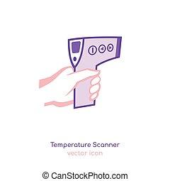 Forhead temperature icon - Non-contact manual temperature ...
