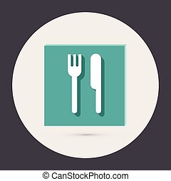 fork and knife.