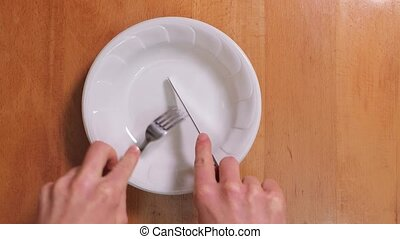 Fork and knife plate scratching sound - Fork and knife ...