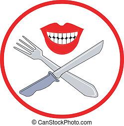 Fork and knife symbol
