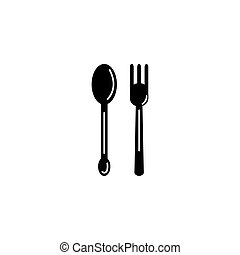 fork and spoon cutlery icon