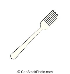 fork cutlery isolated icon