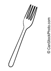 fork cutlery tool isolated icon