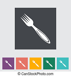 Fork flat icon