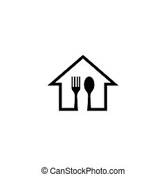 Fork home logo template
