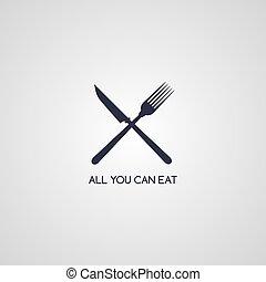 fork knife restaurant logotype vector art illustration