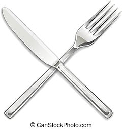 Fork, knife. Set of utensils for eating