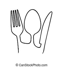 fork knife spoon cutlery icon image