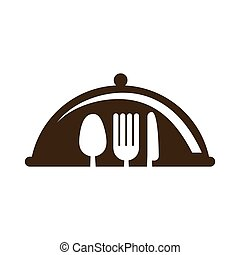 fork knife spoon cutlery icon.Vector graphic
