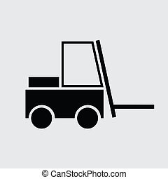 Fork lift icon or sign