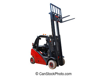 fork-lift isolated