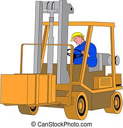 Fork lift truck