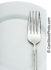 fork on a plate