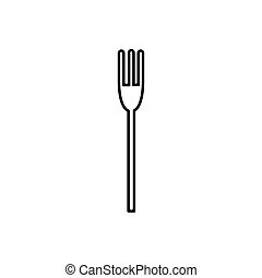 Fork outline icon isolated. Symbol, logo illustration for mobile concept and web design.