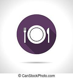 Fork plate knife