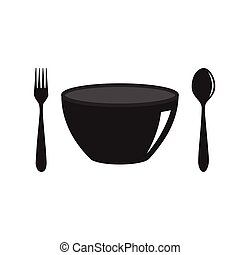 fork spoon and bowl