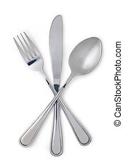Fork, spoon and knife