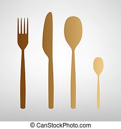 Fork spoon and knife sign