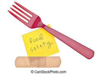 Fork with Bandage Food Safety Concept