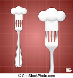 Fork with chef hat