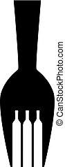 Fork with Wine bottle Logo