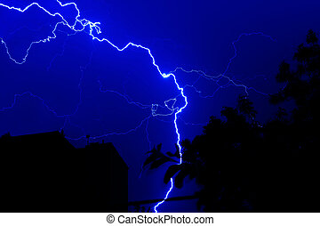 forked lightning at night