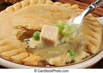 Forkful of chicken pot pie
