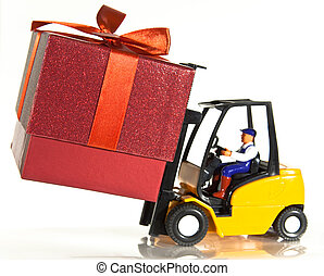 Forklift and present