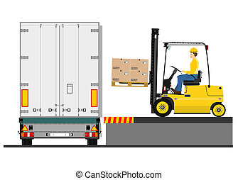 Forklift and trailer