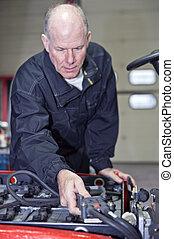 Forklift battery check