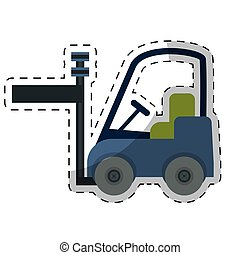 forklift cargo icon image