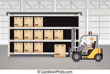 Forklift carton