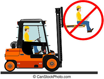 Forklift - Dangers of working with a forklift truck.